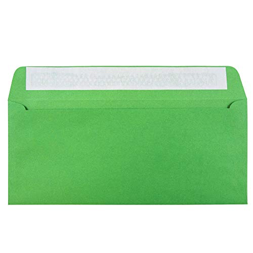 (JAM PAPER #10 Business Colored Envelopes with Peel and Seal Closure - 4 1/8 x 9 1/2 - Green Recycled - 50/Pack)