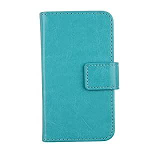 "Gukas Flip PU Billetera Design Para Nokia Lumia 928 4.5"" Funda De Carcasa Cartera De Cuero Case Cover Piel (Azul)"