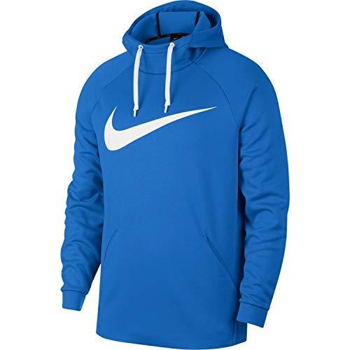Nike Men's Therma Swoosh Training Hoodie Signal Blue/White Size Medium by Nike