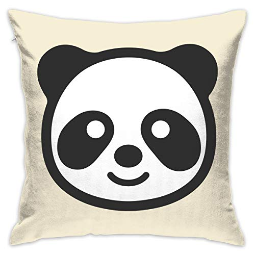 Yangkun Throw Pillow Covers Panda Face 18 X 18 Inches Cushion Sham for Couch Bed Sofa Painted Colorful Geometric Print Daily Decorations for Home D¨¦cor Square Coastal Cushion Cover