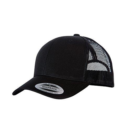 retro Yupoong Negro Flexfit Negro ajustable estilo Gorra camionero gCHwq1C