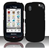 Importer520 Rubberized Snap-On Hard Skin Protector Case Cover for For (Verizon) Pantech Hotshot 8992 - Black