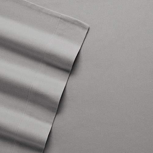 Cuddl Duds Queen Size Heavyweight 4-Piece Flannel Sheet Set, Gray