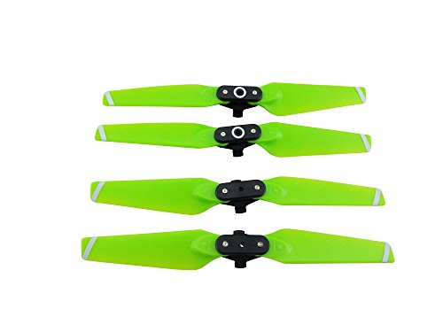 Upgraded Spare Parts Main Blade Propellers Props CW CCW 4730F Quick Release Folding Propellers for DJI Spark Drone Rc Quadcopter Prop Set (Green)