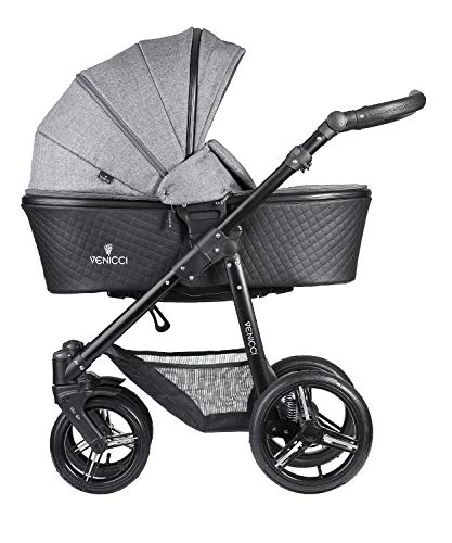 (Venicci Shadow 2 in 1 Travel System- Denim Grey/Black)