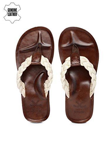 WROGN Men Off-White Braided Sandals (6