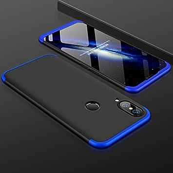Shinyzone Huawei P20 Lite 360 Gradi Protezione Completa 3 in 1 Design Custodia, Ultra Sottile Duro PC Cover Leggera Antiurto Anti-Graffio per Huawei P20 Lite, Oro Nero