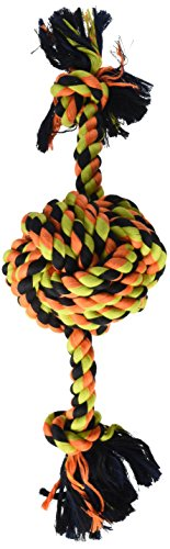 - Flossy Chews Color Monkey Fist Ball with Rope Ends, Large, 18-Inch