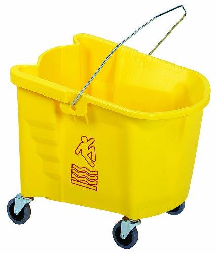 Continental 335-3YW, Yellow 35 Quart Splash Guard Mop Bucket (Case of 1)