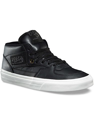 Vans Half Cab DX Mens Leather Black Gold Skateboarding Shoes (10 B(M) US Women / 8.5 D(M) US Men) by Vans
