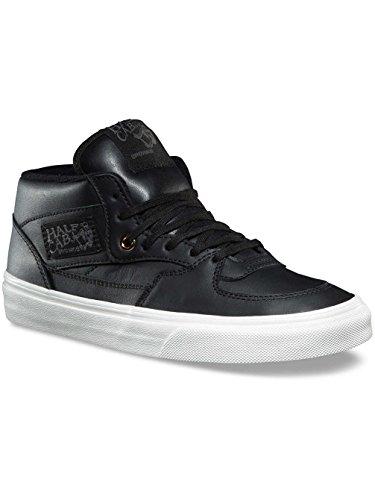 Vans Half Cab DX Mens Leather Black Gold Skateboarding Shoes (7.5 B(M) US Women/6 D(M) US Men) (Cab Half Vans)