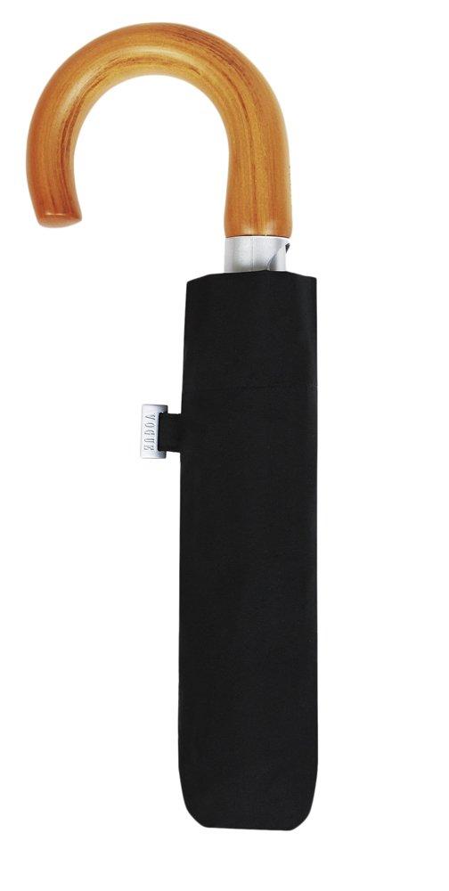 Paraguas de la Marca VOGUE Plegable con Apertura automática. Puño Curvo de Madera. Antiviento y Acabado Teflón Que repele el Agua.: Amazon.es: Equipaje