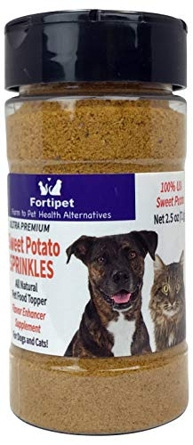 Cheap Fortipet USA Freeze Dried Raw Sprinkles 30 Day Supply Pet Super Food Topper and Treat for Dogs and Cats (Sweet Potato Sprinkles 2.5 Ounce, 1 Pack)