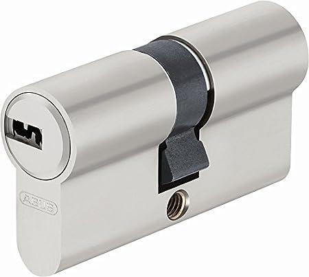 ABUS EC-SNP Cylindre débrayable pour portes extérieures/entrées d'appartement 35 x 35 Nickelé Mat 45001