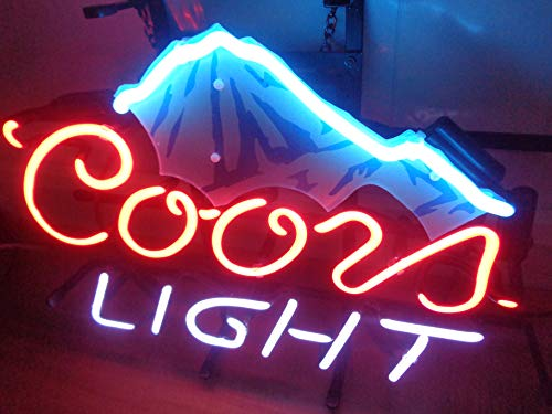 Coors Light Neon Sign - Coors Light Ice Mountain Acrylic Board Neon Sign 17
