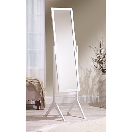 Mirrotek adjustable free standing tilt full length body for Decorative full length wall mirrors