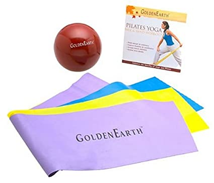 Amazon.com : Waikiki Aloe Pilates Yoga Ball and Band Kit ...