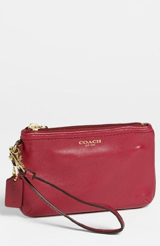 Coach Legacy Leather Small Wristlet Deep Port by Coach