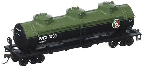 Bachmann Industries 3769 British American Oil #Baox 40' Three-Dome Tank Car (HO Scale Train) (Axle Tanker)