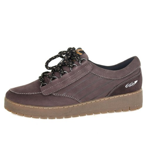 Allrounder by Mephisto Womens Otira Lace-Up Casual Root Dark Brown Nubuck N