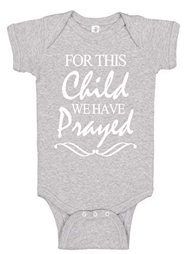 Aidens Corner - for This Child - Baby Boy & Baby Girl Clothes - Religious Bodysuits (6 Months, Heather)