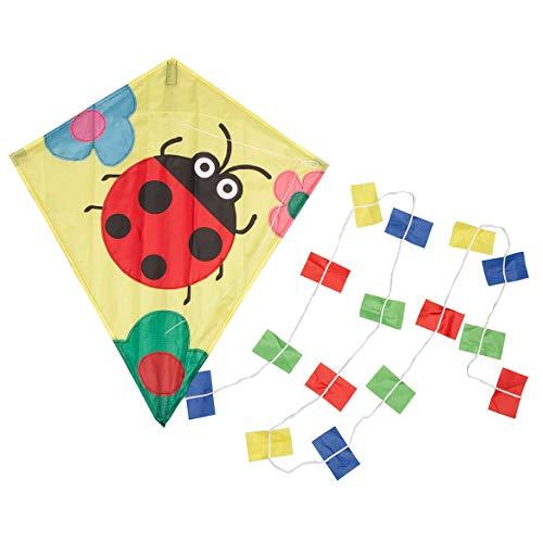 Fox Valley Traders Miles Kimball Children's Ladybug Kite, Colorful Kite for Kids