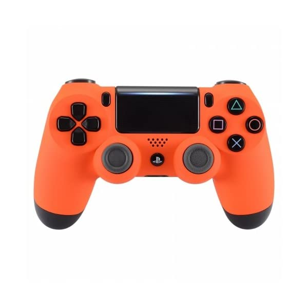 PS4 Dualshock Playstation 4 Wireless Controller Custom Soft Touch New Model (Orange) 1