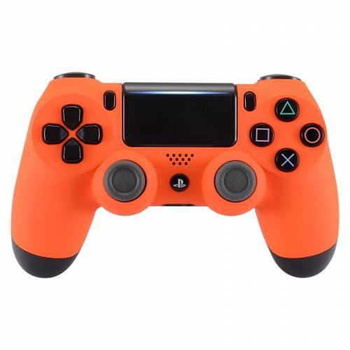 Orange Consumer Headphones (PS4 Dualshock Playstation 4 Wireless Controller Custom Soft Touch New Model (Orange))