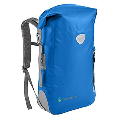 BackSak Waterproof Backpacks 25L & 35L sizes | Heavy Duty Roll-Top Closure, Easy Access Front-Zippered Pocket, Reflective Trim, Padded Back Support & Cushioned Adjustable Straps | by Skog Å Kust