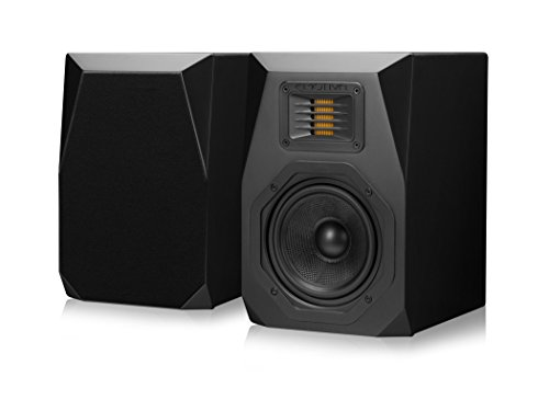 Emotiva Audio Surround Bookshelf Home Speaker Set of 2 Black (B1)