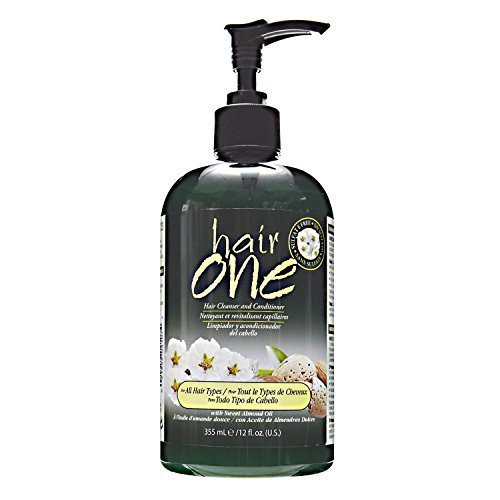 Sweet Almond Oil Cleansing Conditioner For All Hair Types by Hair One (Best Drugstore Conditioner For Curly Hair)
