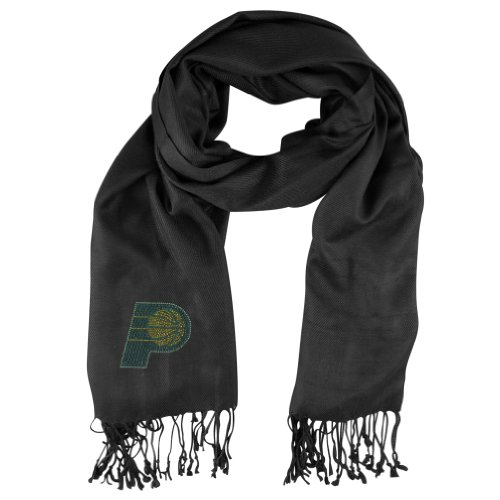 Nba Crystal (NBA Indiana Pacers Crystal Pashmina Fan Scarf, Black)