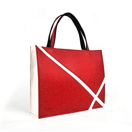 Vplos Tote Handbag Purse for Women Men Tour Work School Sleeve for Tablet ipad 10.5 Book Hardware Storage with Pocket Tote Bag New Brands(M, Grey)