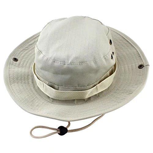 Rebels Straw Cowboy Hat (Vrcoco Summer Boonie Hat Wide Brim Bucket Hat Lightweight Casual Cowboy Camouflage Fishing/Golf Hat Sun Hat UPF50+ for Men and Women(1pc,Beige))
