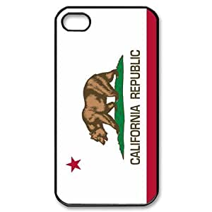 Custom Your Own Personalised Hard California State Flag iPhone 4/4S Cover , Snap On California State Flag iPhone 4/4S Case by Maris's Diary