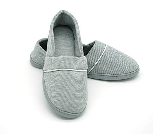 Navoku Indoor Grey Bedroom Cozy Slippers Cotton House Outdoor Women's RSqxpzwRZ