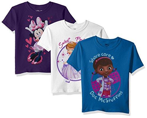 Disney Girls Minnie, Doc McStuffins, Sofia The First 3-Pack Tees