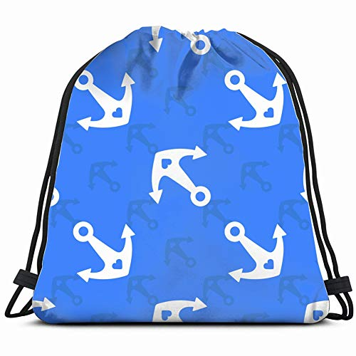 diagonalon blue Special Backpack Sack Bag Gym Bag For Men & Women 17X14 Inch