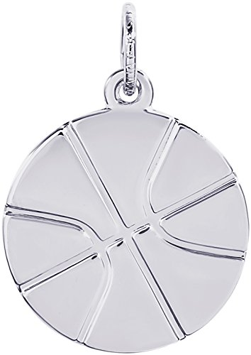 Rembrandt Charms 14K White Gold Basketball Charm (0.69 x 0.69 inches) by Rembrandt Charms