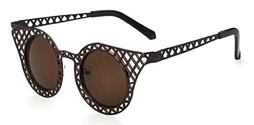 oeil de Femmes Marron de style vintage soleil cadre chat Lunettes rétro AXUnwdxqq