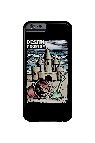 Destin, Florida - Sandcastle - Scratchboard (iPhone 6 Cell Phone Case, Slim Barely - Destin Sand