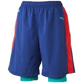 Puma Mens(K) Faas USP Dri-Fit Two-In-One Shorts XL Navy Blue-Bittersweet