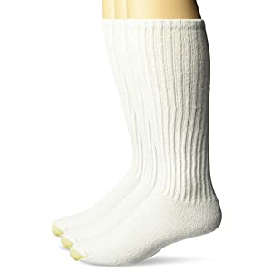 Gold Toe Men's Cotton Over the Calf Athletic Sock 3-Pack, White, Size: 6-12 1/2