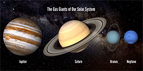 Price comparison product image 3D Motion Lenticular Postcard - SOLAR SYSTEM - GAS GIANTS - 4x8 Postcard Greeting Card - Oversize