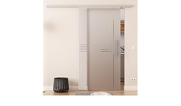 Correderas de cristal de puerta de 900 x 2050 mm de seda de idea-design (I) Dorma ágil 50 sistema completo EV1 alu-corredor de acero inoxidable y-manijas de barra puerta corredera de vidrio