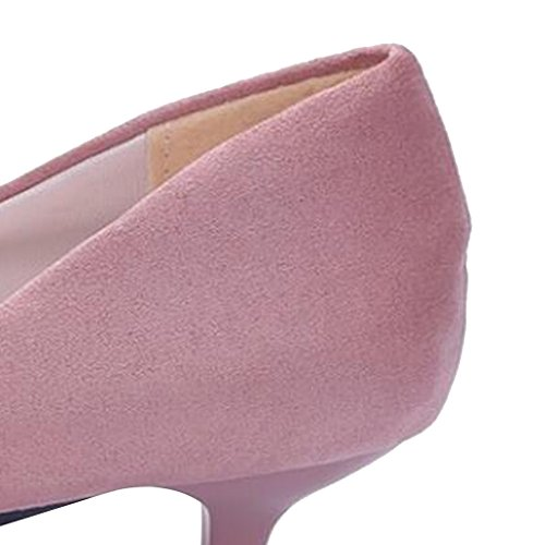 Shoes Mid Time Pink Slip Heel Pumps Dear Women On 617PP