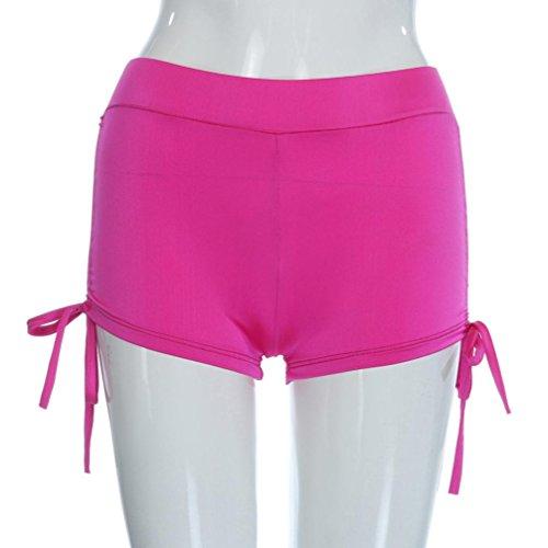 2172de9a67d VESNIBA Womens Shorts Plain Bikini Swim Pants Swimwear Style Briefs Bottoms  Beachwear (S, Hot
