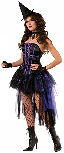 Cute Corset Costumes (Forum Novelties Women's Halloween Couture Willow Witch Costume, Black/Purple, X-Small/Small)