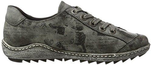 Remonte Damen R1402 Sneaker Grau (asphalt/schwarz / 45)