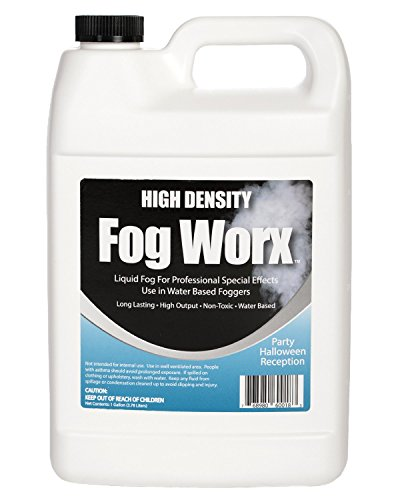 FogWorx High Density Fog Juice - Long Lasting, Odorless, High Output, Water Based Fog Machine Fluid - 1 Gallon for 400 Watt to 1500 Watt Machines (1 Gallon Fog Juice)
